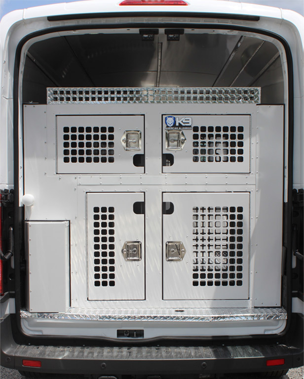 animal control vehicle with closed doors